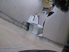 Korean girl using toilet part 3