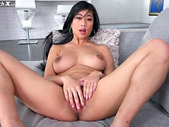Jade Kush gets interviewed and fucked on the Casting Couch.
