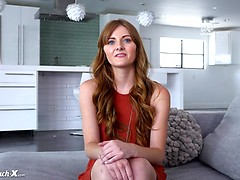 Miley Cole gets interviewed and fucked on the Casting Couch.